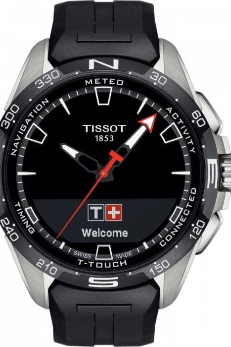 Tissot T-Touch Connect Solar schwarz/silber mit Kautschukarmband schwarz (T121.420.47.051.00)