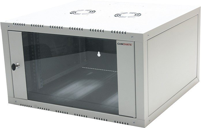 LogiLink Canovate 1-piece 6U wallmounting cabinets grey, 560mm deep (W06E66G)