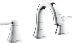 """Grohe Grandera 3-hole bathroom sink tap 1/2"""" S-Size with drain remote chrome (20417000)"""