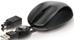Conceptronic Optical Travel Mouse schwarz, PS/2 & USB (CLLMTRAVCO)