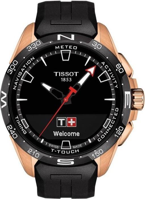 Tissot T-Touch Connect Solar schwarz/gold mit Kautschukarmband schwarz (T121.420.47.051.02)