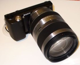 Sony Alpha NEX-5 schwarz mit Objektiv AF E 18-200mm 3.5-6.3 OSS (NEX-5HB)