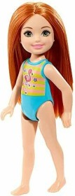 Mattel Barbie Club Chelsea with Flamingo swimsuit ginger hair (GLN72)