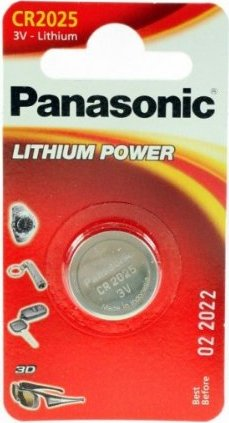 Panasonic CR2025, bateria pastylka, litowa, 3V -- via Amazon Partnerprogramm