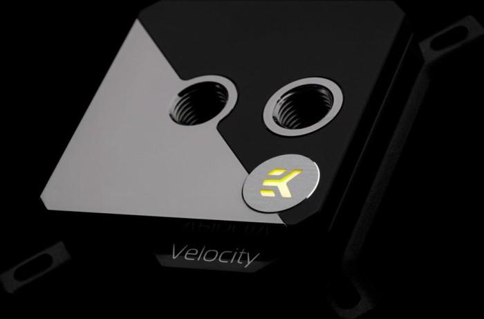 Ventilrad EK Water Blocks EK-Velocity Strike RGB Schwarz Schwarz Nickel
