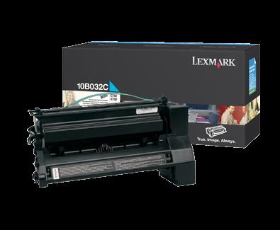 Lexmark 10B032C Toner cyan hohe Kapazität