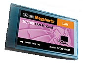 3Com 3CCFE574BT Megahertz 10/100 LAN PC Card, PCMCIA, retail