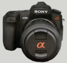Sony Alpha 350 schwarz mit Objektiv AF 18-70mm DT und AF 55-200mm DT (DSLR-A350X)