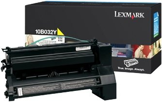 Lexmark 10B032Y Toner yellow high capacity