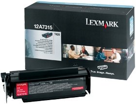 Lexmark Toner 12A7315 black high capacity