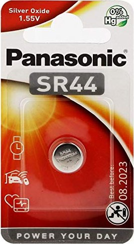 Panasonic SR44, Knopfzelle, Silber, 1.5V -- via Amazon Partnerprogramm