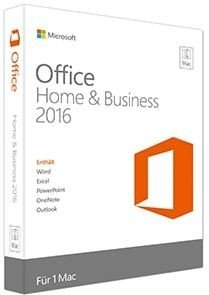 Microsoft: Office 2016 Home and Business, PKC (English) (MAC) (W6F-00550/W6F-00952)