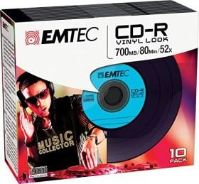 Emtec [BASF] vinyl Look CD-R 80min/700MB, 10-pack
