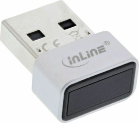 InLine fingerprint Scanner, Windows Hello compatible, Fingerprint Reader USB dongle, USB (41360I)
