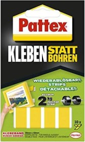 Pattex Kleben instead of drill Klebestrips, double-sided, universal, 20mm/40mm, 10 pieces (PXMS1)