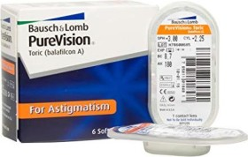 Bausch&Lomb PureVision Toric, -1.25 Dioptrien, 6er-Pack