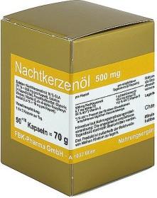 FBK-Pharma Öl der Nachtkerze 500mg Kapseln, 90 Stück