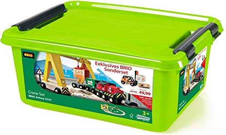 BRIO Bahn Set Kran mit Frachten (33048) -- via Amazon Partnerprogramm