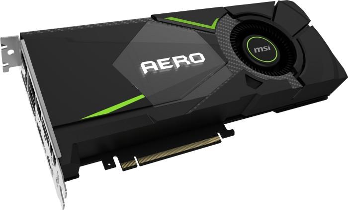 MSI GeForce RTX 2080 Aero 8G, 8GB GDDR6, HDMI, 3x DP, USB-C (V372-001R)