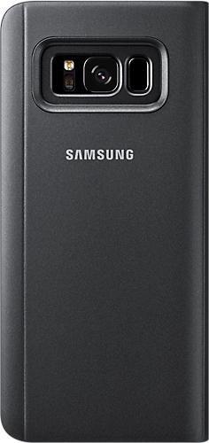 Samsung EF-ZG950CB Clear View Standing Cover für Galaxy S8 schwarz