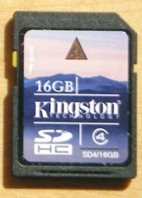 Kingston SDHC 16GB, Class 4 (SD4/16GB)
