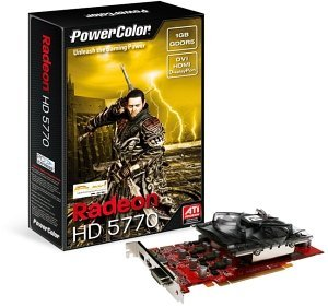 PowerColor Radeon HD 5770 Play!, 1GB GDDR5, DVI, HDMI, DisplayPort (AX5770 1GBD5-DH/R84FE-TI3)