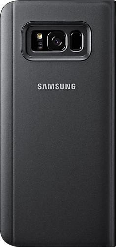 Samsung EF-ZG955CB Clear View Standing Cover für Galaxy S8+ schwarz