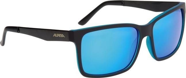 Alpina Sonnenbrille Sport Style DON HUGO, black matt-blue, A8522332