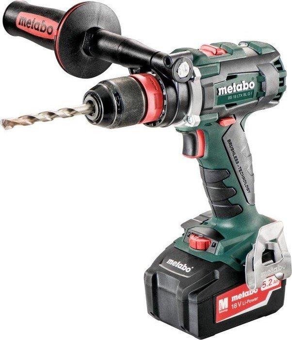 Metabo BS 18 LTX BL Q I cordless screw driller incl. case + 2 Batteries 5.2Ah (602351650)