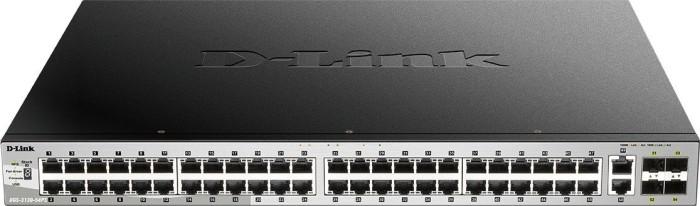 D-Link DGS-3130 Rackmount Gigabit Managed stack switch, 50x RJ-45, 4x SFP+, 370W PoE+ (DGS-3130-54PS/SI)