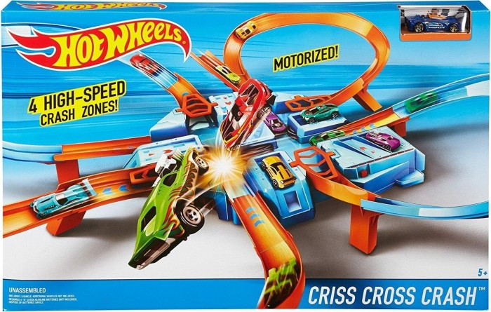 Mattel Hot Wheels Criss Cross Crash Track Set (DTN42)