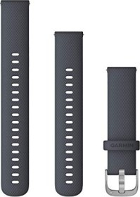 Garmin quick release replacement bracelet 18mm silicone granite blue/silver 110-195mm (010-12924-30)