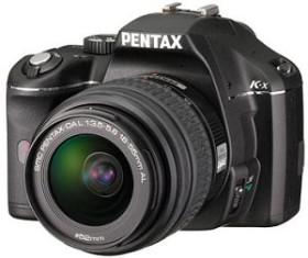 Pentax K-x schwarz mit Objektiv DA L 18-55mm und DA L 55-300mm (1580102)
