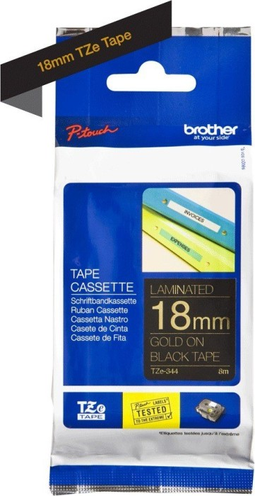 Brother TZ-344/TZe-344 (18mm, gold auf schwarz) -- via Amazon Partnerprogramm