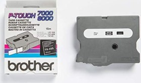 Brother TX-355 label-making tape 24mm, white/black (TX355)