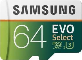 Samsung EVO Select R100/W60 microSDXC 64GB Kit, UHS-I U3, Class 10 (MB-ME64GA)