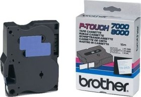 Brother TX-253 label-making tape 24mm, blue/white (TX253)