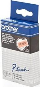Brother TC-B01 Beschriftungsband 12mm, schwarz/orange (TCB01)