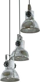Eglo Barnstaple hanging lamp 3 flames brown (49647)