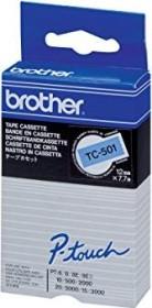 Brother TC-501 label-making tape 12mm, black/blue (TC501)