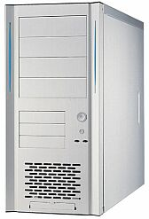 Lian Li PC-6083A Midi-Tower, aluminum, 2x USB front, noise-insulated (various Power Supplies)