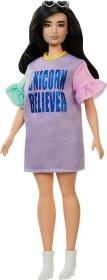 Mattel Barbie Fashionistas im pastellfarbenen Kleid Curvy (FXL60)