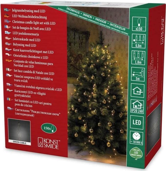 Konstsmide Weihnachtsbeleuchtung.Konstsmide Led Tree Lights Coat Light Chain 150x Amber 6360 820