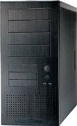 Lian Li PC-61 Midi-Tower, aluminum black, noise-insulated (various Power Supplies)