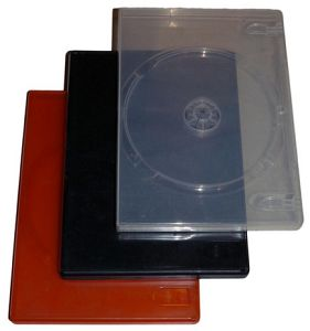 Various DVD jewel cases 1-way, 5-pack (various colours) -- © bepixelung.org