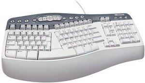 Microsoft Natural MultiMedia Keyboard, PS/2, DE (K50-00102)
