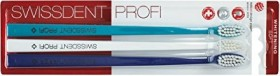 Swissdent professional Whitening toothbrush Trio-pack turquoise/white/blue, soft