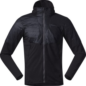 Bergans Senja Midlayer Hood Jacke black/solid charcoal (Herren) (8728-2851)