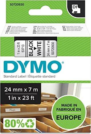 3 x Kompatibel für Dymo LabelManager D1 Schriftband 53713 Schwarz auf Weiß 24mm