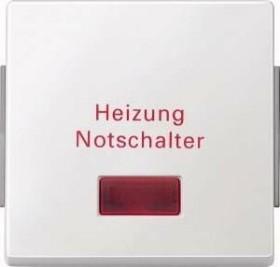 Merten Aquadesign Wippe für Heizungs-Notschalter, polarweiß (343019)